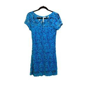 NEW Crochet Lace Style Dress Blue
